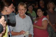 Raffle winner Arlene Relko chooses to take the $10,000 prize
