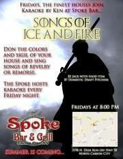 Songs of Ice and Fire - Friday Night Carson City Karaoke at Spoke Bar