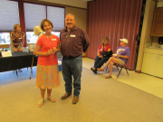 President of the Friends of the Dayton Valley Library, Marty Lewis, and Lyon Cou