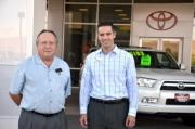 Carson City Toyota General Manager Dana Whaley and Greater Nevada Credit Union L