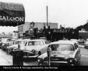 1955 view of North Carson Street from Charles Marriage's Polaroid camera
