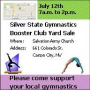Gymnastics yard sale