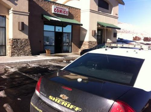 Two bookstores were broken into overnight in Carson City.